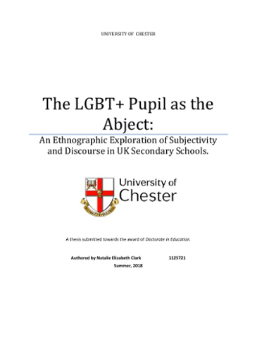 The LGBT+ Pupil as the Abject: